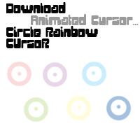 Circle Rainbow Cursor by KuroNoGuro