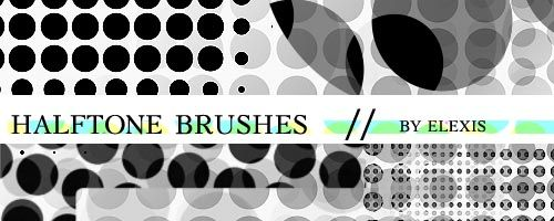 Halftone brushes - By Elexis