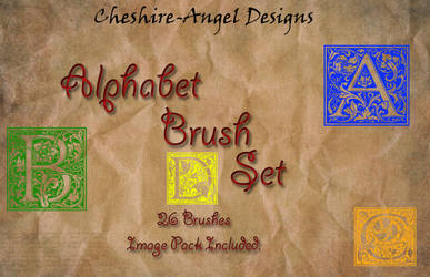 Alphabet Brush Set