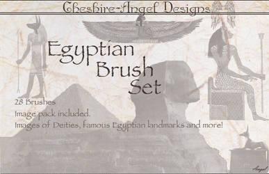 Egyptian Brush Set by Cheshire-Angel