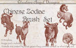 Chinese Zodiac Brush Set