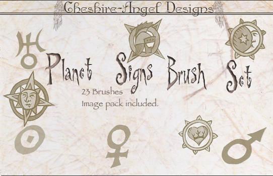 Planet Signs Brush Set