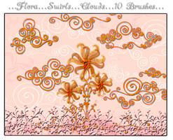Swirls and Curls Brushes by loma2005
