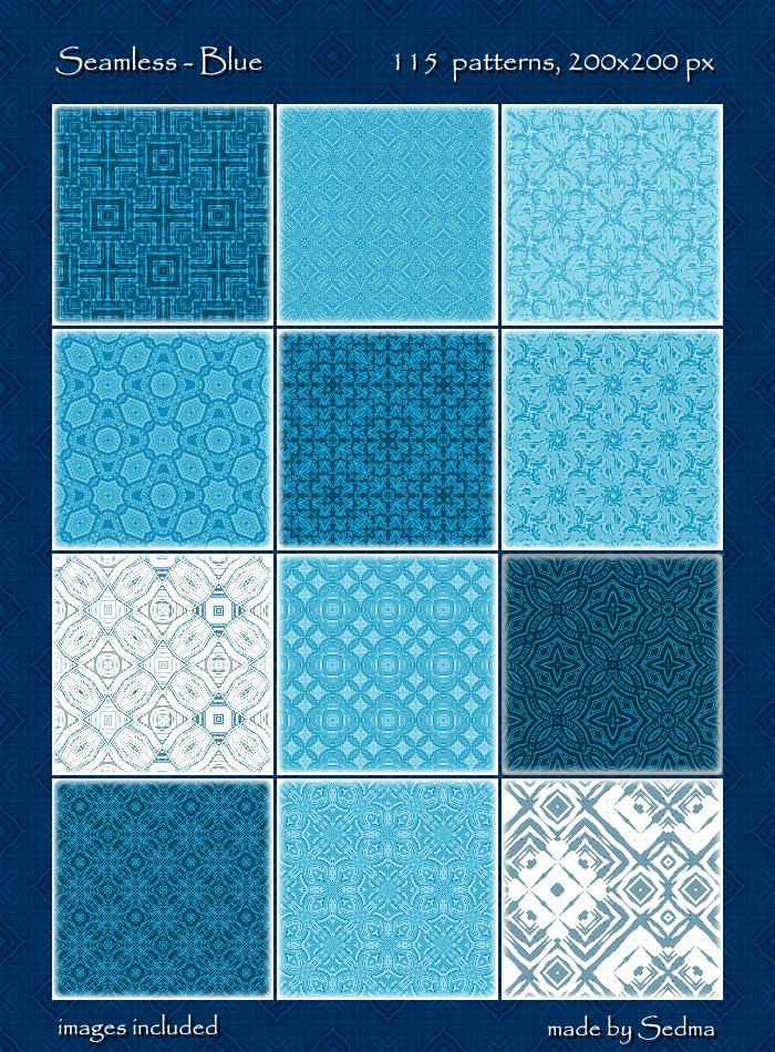 115 Seamless - Blue Patterns
