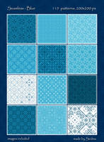 115 Seamless - Blue Patterns by Sedma