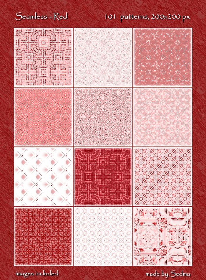 101 Seamless - Red Patterns