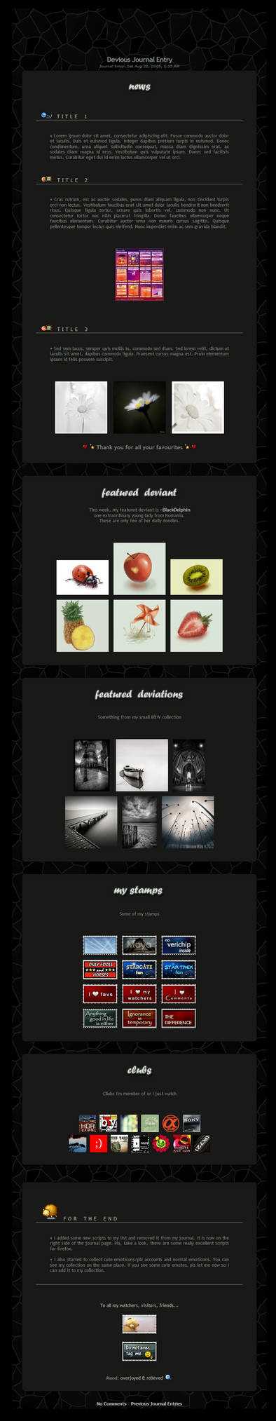Dark Simplicity - journal CSS