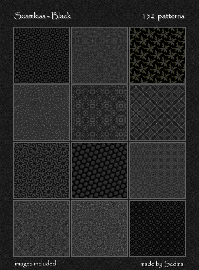 152 Seamless - Black Patterns