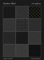 152 Seamless - Black Patterns by Sedma