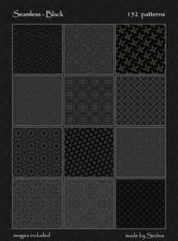 152 Seamless - Black Patterns