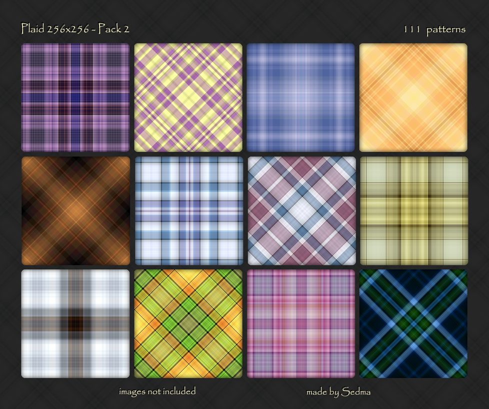 Plaid 256x256 - Pack 2 by Sedma