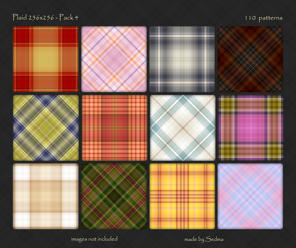 Plaid 256x256 - Pack 4 by Sedma