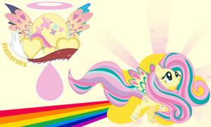 Fluttershy Rainbow Wall