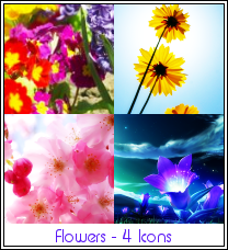Flowers Iconset by Sabrina-K-88