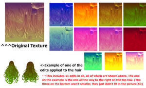 Montecore Byakuren Hair Texture Edits + DL