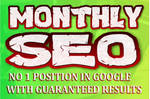 Do monthly seo service and everyday backlinks by S