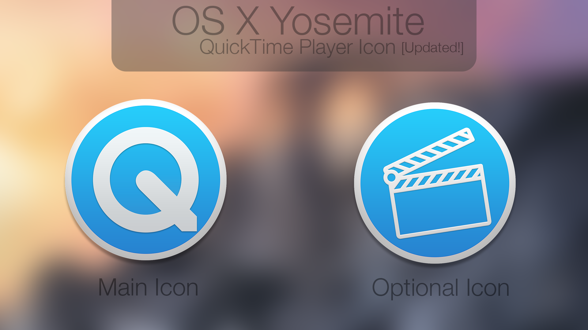 OS X Yosemite QuickTime Player Icon! [UPDATE!]