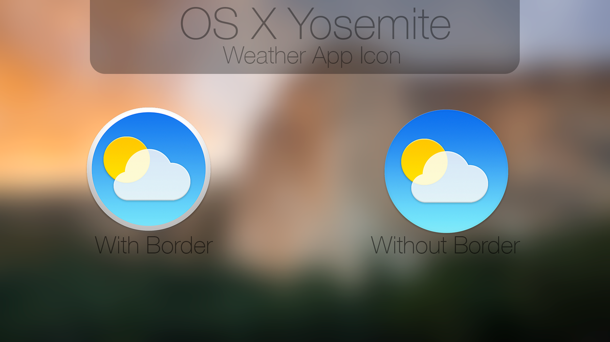 OS X Yosemite Weather App Icon [Test] by Atopsy