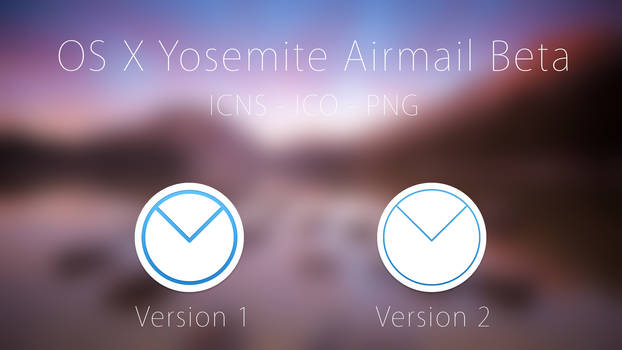 OS X Yosemite Airmail Beta Icons