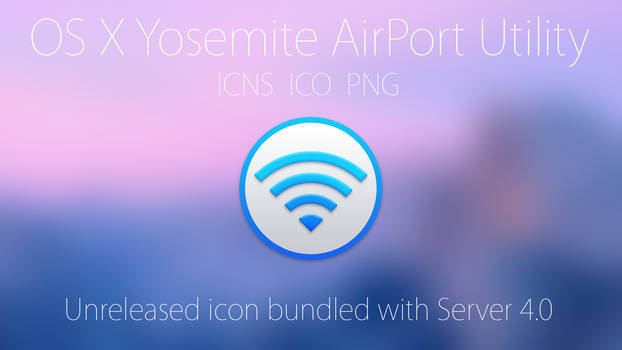 Official OS X Yosemite AirPort Utility Icon!