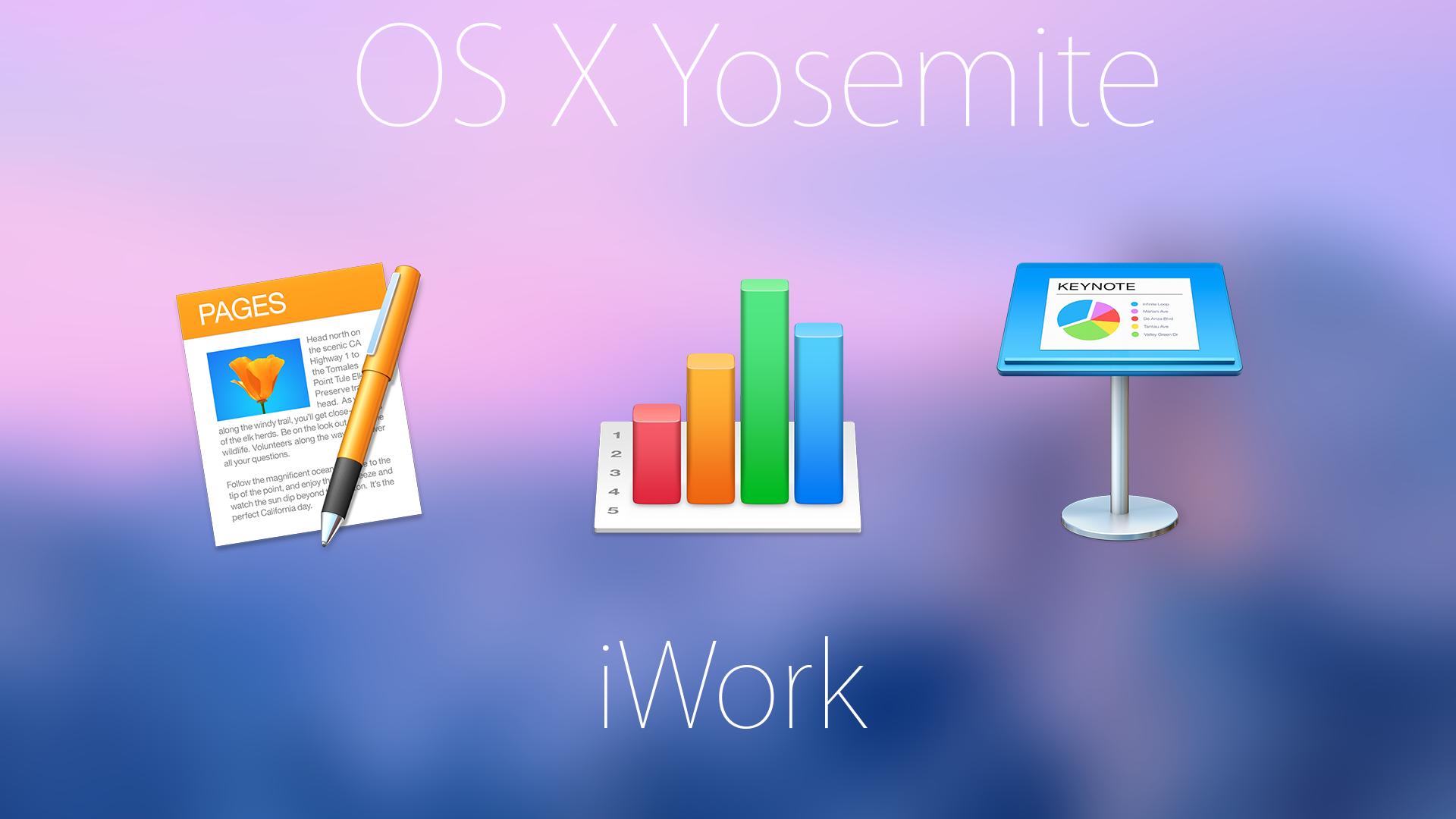 OS X Yosemite iWork by Atopsy