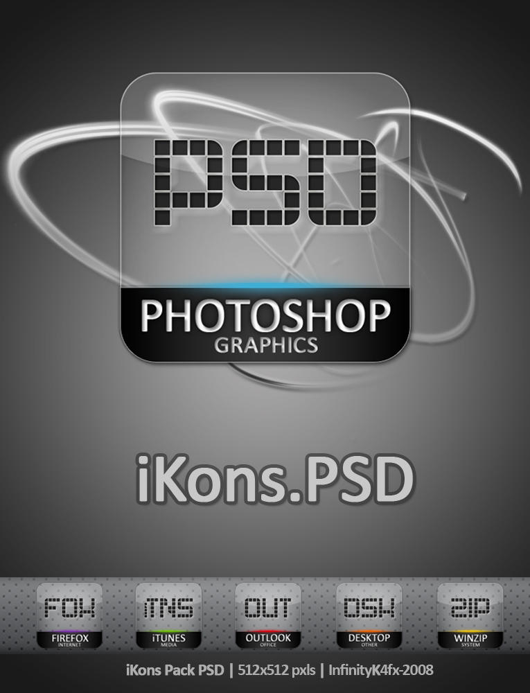 iKons Pack PSD by InfinityK4fx