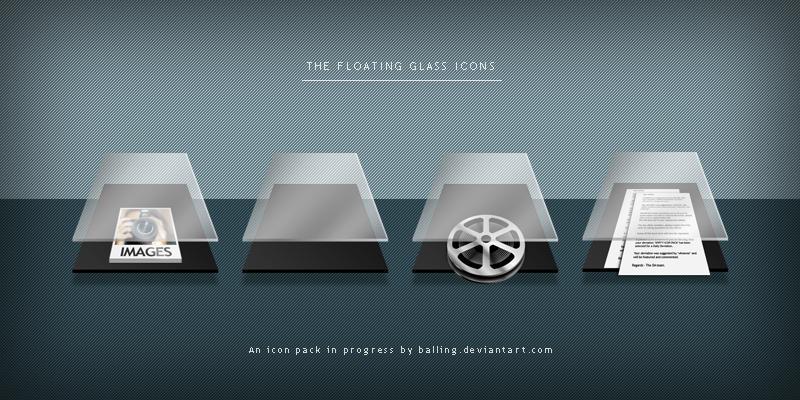 WIP - Floating Glass folders by Balling