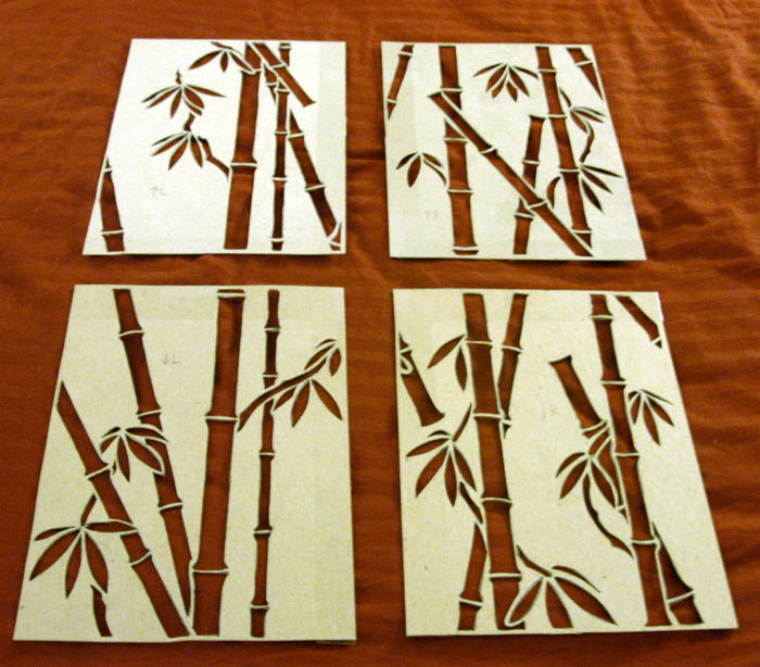 Wall Paint Bamboo Design : Repeating bamboo stencils by angstnokami on deviantart