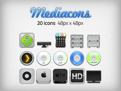 Mediacons - Media Centre Icons by macintex