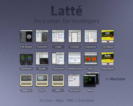 Latte - Iconset for Developers
