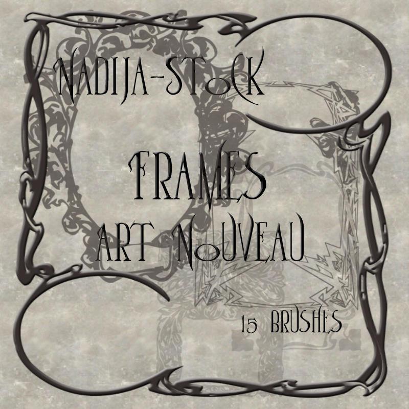 Nadija Stock ArtNouveau Frames by Nadija-stock