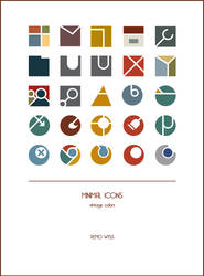 [icon set] Minimal Icon Collection [vintage clrs] by Primofenax