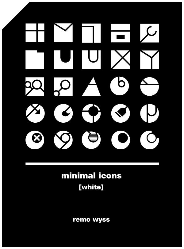 [icon set] Minimal Icon Collection [white] by Primofenax