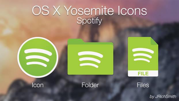 OS X Yosemite - Spotify Icons