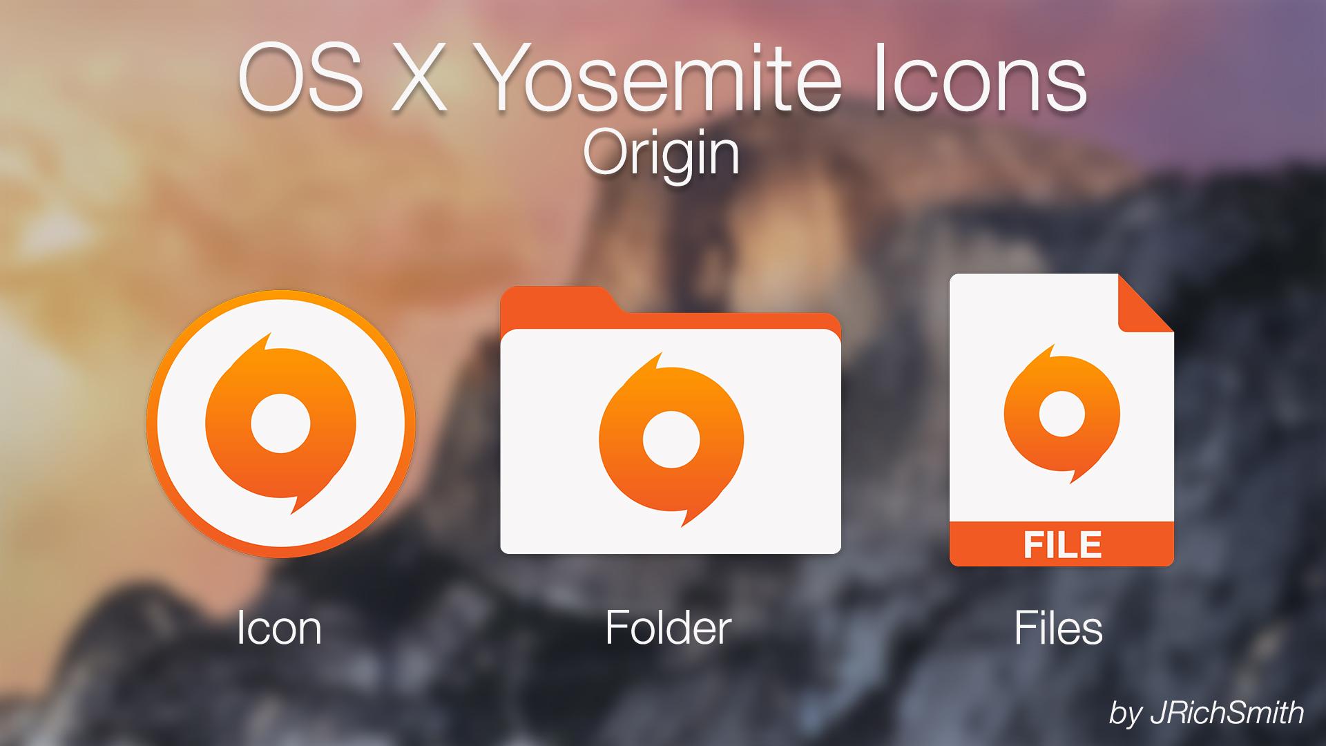OS X Yosemite - Origin Icons by JRichSmith on DeviantArt