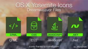OS X Yosemite - Dreamweaver Files Icons