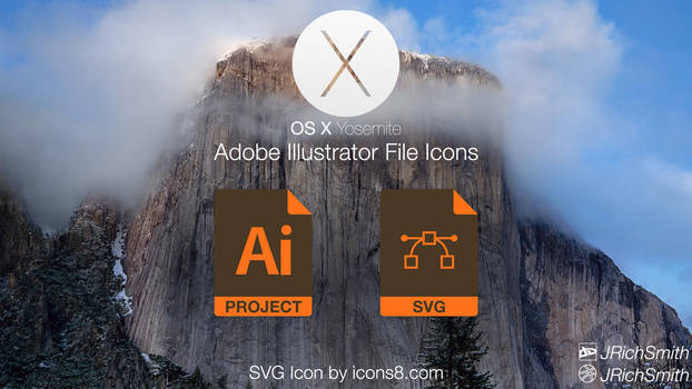 OS X Yosemite - Illustrator Files Icons