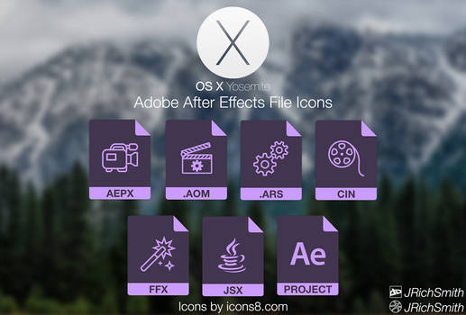 OS X Yosemite - After Effects Files Icons