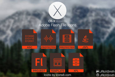 OS X Yosemite - Flash Files Icons by JRichSmith