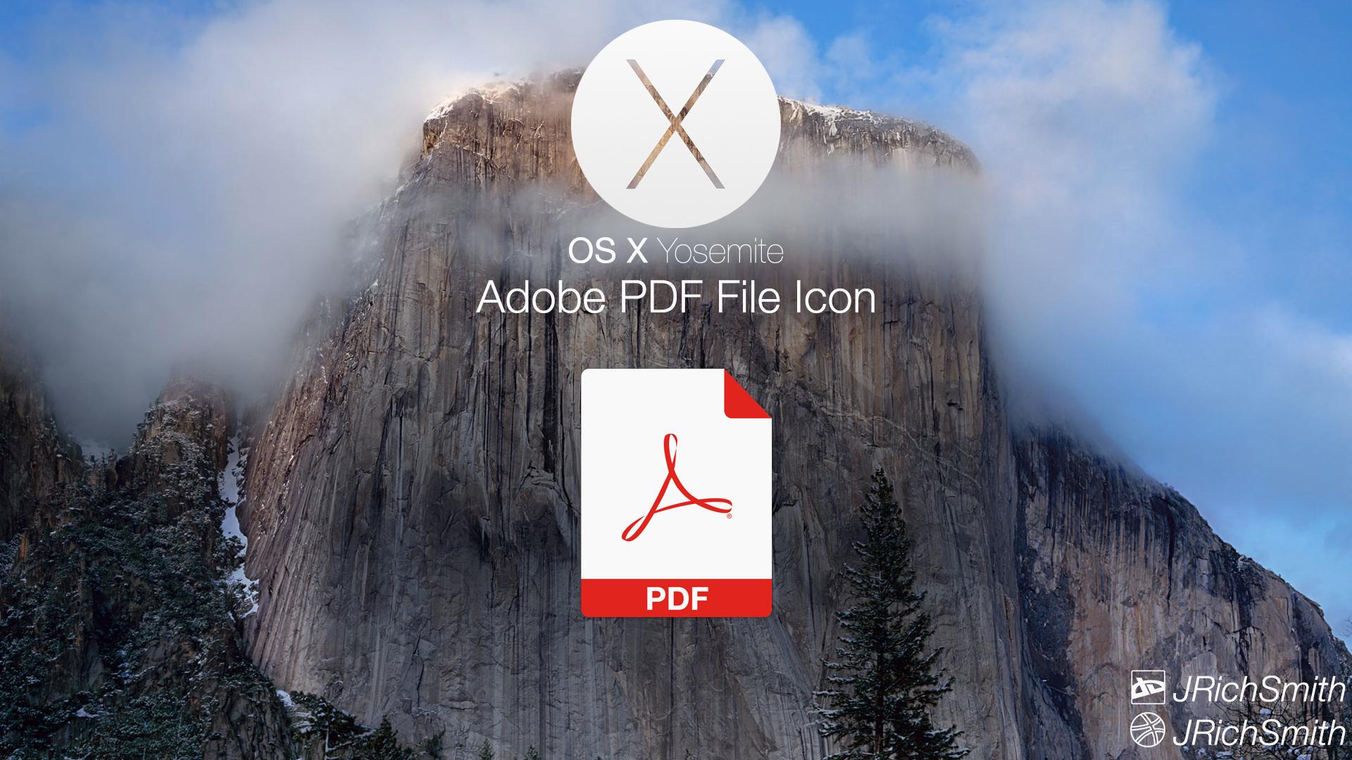 OS X Yosemite - PDF File Icon