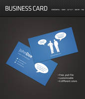 Speech Bubble Business Card PSD