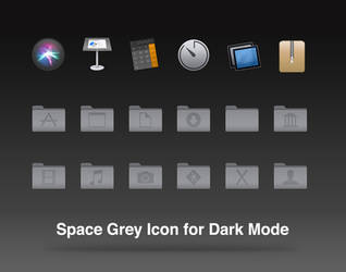 Space Grey Icon for the Dark Mode by Shompinice