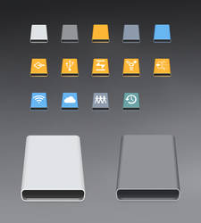 Disk Icon for macOS with Windows 10 Style by Shompinice