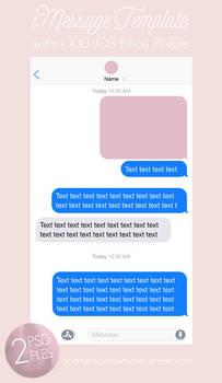 iMessage Template + 100 Emoji PNGs