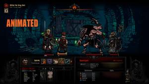 Gotrek and Felix in Darkest Dungeon (Animated)