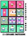 Cupcake Patterns 003 by Fleeting-Hope