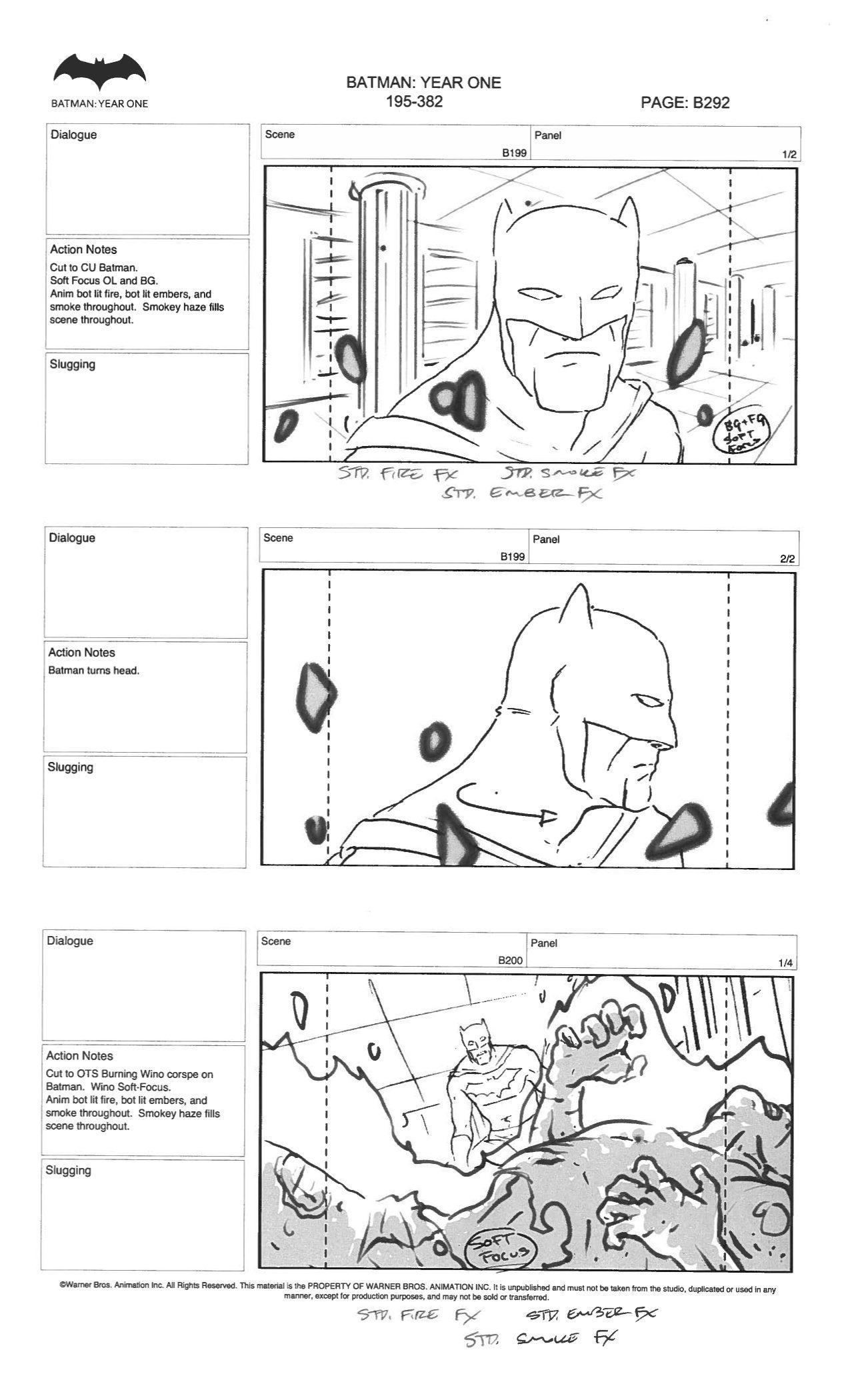 Batman Year One storyboards pt1 by ZWYER