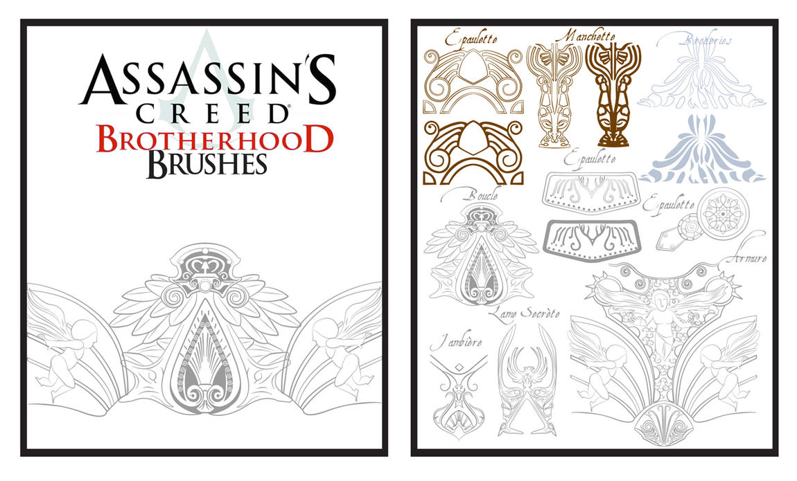 Brushes Assassin's creed Broth by belladone-atropos