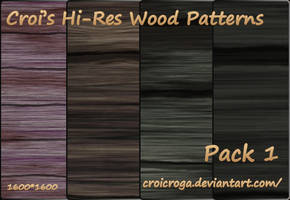 Croi's Hi-Res Wood Patterns Pack 1 by croicroga