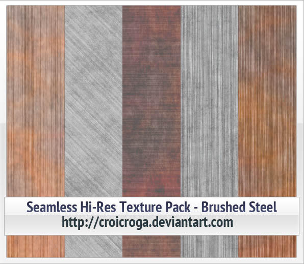 Seamless Hi-Res Texture Pack - Brushed Steel by croicroga